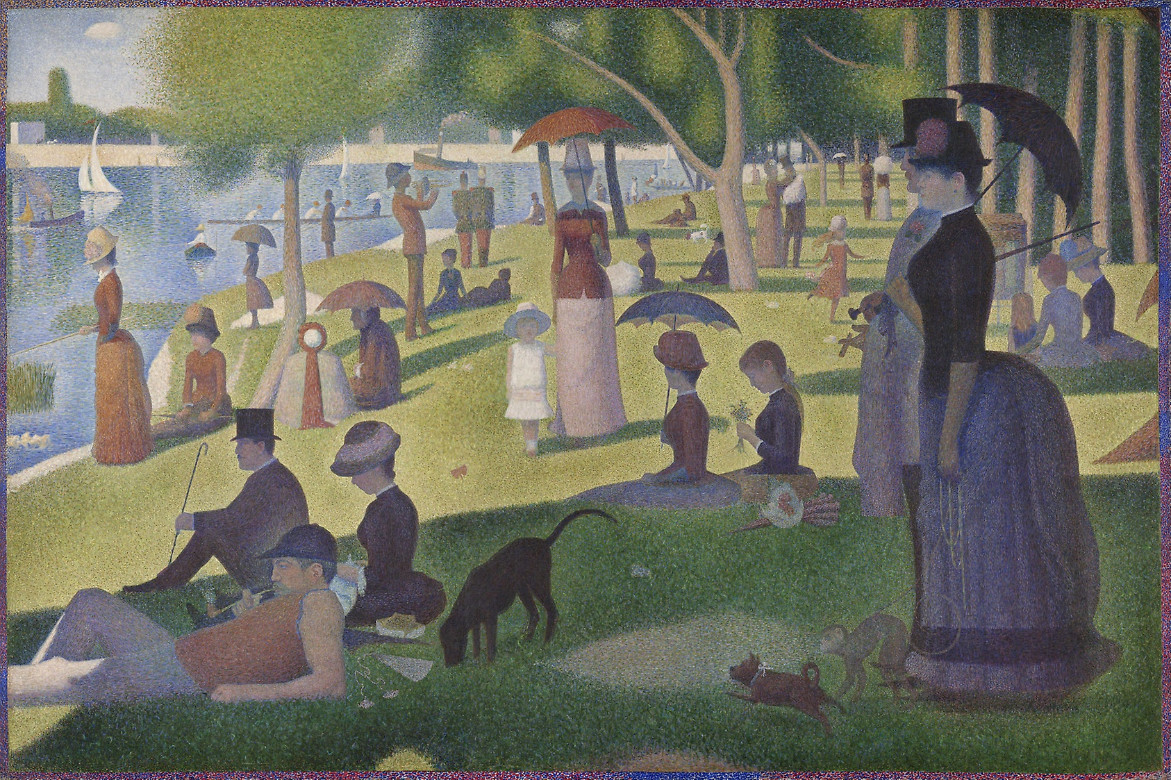 Seurat-painting-topiary-park-Columbus-Ohio