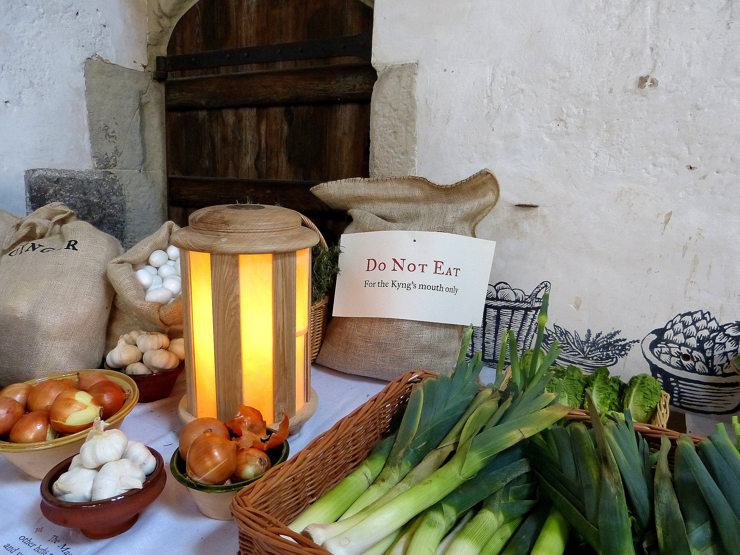 Vegetables fit for a king on display in Hampton Court Palace's kitchen r eg